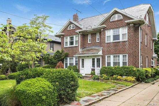 Classic brick center hall colonial on oversized 60x176 lot with a total of 6 bedrooms and 3.5 baths. Must see.