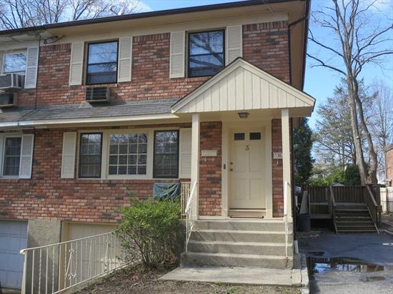1st floor apartment with 3 bedrooms & 2 Full Baths with use of garage + driveway. Excellent Condition - Updated eat-in kitchen & baths plus hardwood floors. W/D with unit. Walking distance to town and waterfront.