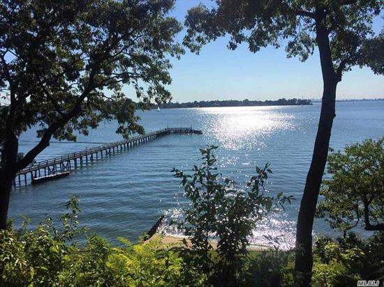 Prestigious Magnificent 4.09 Acre Elevated Water Front Property. Sandy Beach with Unobstructed Views of NYC Skyline and Long Island Sound.  400 Foot Deep Water Dock. Currently with 5000 Sq Ft Brick Manor House, Gunite Pool and various other buildings on site. Option to build a 12000 Sq Ft Brand New Waterview Mansion. Option to buy 5 adjacent lots.