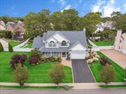 Wind Wood Oaks newly built Colonial.Sachem Schools. Prof. landscaped, wrap around porch, cedar impression front siding. 4500 Sq. Ft. Int. Majestic 20' entry, 9' ceilings. Cust. Mold, vault/Tray ceilings-venetian plaster. Hrdw. flrs, rec. lighting.Open flr plan. Beautiful Kit w/Kit.Aid Ss appls, granite countertops. Enormous den w/gas fpl. Master Ste w/gas fp, f/bth & stand up shower & tub.2nd Mast. Ste 1st flr w/bth.3 zone CAC, f/bsmnt w/OSE.PVC fen. yd w/cust paver patio, gas heat.