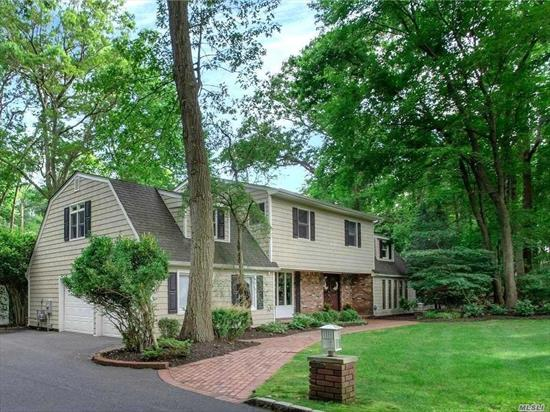 Location, Location, Location! Magnificent Center Hall Colonial on 1 Acre+, Great Entry Foyer Large LR, FDR w/fireplace, FR, Newer Kitchen with Corian counters and ssappl. Huge Master Suite with dual walk-in closets and a reading nook. The backyard is secluded and manicured. There's a fabulous in-ground heated pool surrounded by beautiful mature, perennial gardens and Timbertech decking. Minutes from Northport Village, Golf, beaches, and Theater. Northport Schools.