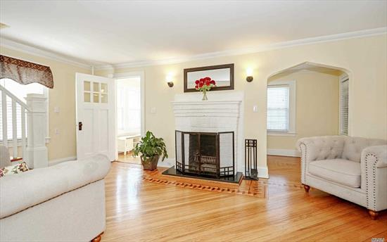 Turnkey, sunlit colonial in heart of RVC village, Hewitt Elementary! Liv Rm wood floors have exquisite inlay border, woodburning fireplace and office off to side; Din Rm is adjacent to updated kitchen with SS appliances, black granite countertop and white subway tile backsplash; Fam Rm overlooks sliders to the deck and has full bath off to side; Three Bedrooms upstairs with full bath; Deck overlooking Backyard; Walkup Attic for storage; Partly Finished Basement; 2 Car Garage; Gas-LOW TAXES!