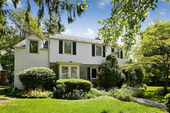 Spacious Skylit Colonial. Large living room, dining room, eat in kitchen, huge family room, bedroom & bath on Main floor. Second floor has fabulous master suite w/dressing room, + 3 bedroom's & full bath.Basement has playroom, storage, laundry & maid's room. Great property.