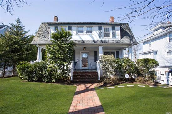 Amazing 5 Bed colonial with over 3200 sq feet of living space. Beautiful open concept eat in kitchen leading into 990 sqft great room with 16 foot ceilings. Gourmet kitchen complete with 2stoves, 2sinks and 2dishwashers.First floor is completed with a LR, FDR, office and half bath. In addition there is an attached 1br mother-in-law suite off of the side of the home. CAC throughout, Huge 70 x 213 square foot lot. 2nd floor boasts 4 bedrooms a full bath and a balcony overlooking the 1st floor.