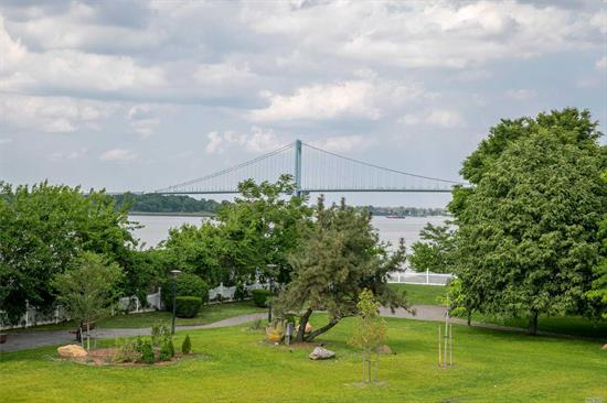 Waterview Triplex condo located in College Point at the Villas at Riverview. House Style Living with 3 levels of living space featuring Cathedral ceilings, Master EnSuite w private bath jacuzzi tub and shower, 2 bedrooms, second bath and washer/dryer Enjoy the Panoramic views from your own private balcony. One parking space, full attic provides ample storage. Riverview offers rare Trail and Park. Pets Allowed.