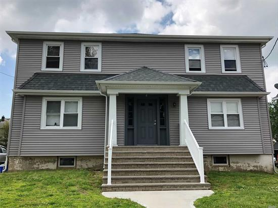Great For Commuters! Renovated 2 BR, 1 Bath, 2nd Floor Apartment Close To LIRR. Lg MBR, Open Concept LR/Kitchen,  Laminate & Tile Floors, S.S. Appliances In Kitchen. Gas Heat & CAC! Tenant Pays Own Gas & Electric.Owner Looking For Good Credit & References. Suitable 2-3 People Max.