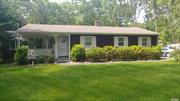 MAKE AN OFFER... OWNER WANTS TO SELL TO RELOCATE... Cozy 3 bedroom ranch on cul-de-sac in Tiana Shores. Beach rights, East Quogue School, Reasonable taxes. Many new upgrades includes new roof, 1 car detached garage, new dishwasher and dryer. Wood floors throughout. Full basement, Alarm system, Sprinkler system,  room for pool. Owners will consider selling home with furnishings...Close to local towns and beaches. Easy access to Sunrise Hwy and the Jitney. Owner Occupied. By Appt only.