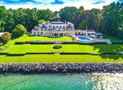 A Stunning Integration Of An Authentic Versailles And Modern Living Situated On 3 Acres Of Picturesque Waterfront Property In The Prestigious Village Of Kings Point. The French Limestone Mansion Faces A Rare Marble Fountain Imported From The Rothschild Estate In France, Contains Multiple Parquet De Versailles Floors, Boiserie Removed From Centuries-Old French Chateaus, Verre Eglomise Mirrors And Pietra Dura Floors. The Property Boasts A Private Deep-Water Dock, Sandy Beach And Marble Pool.