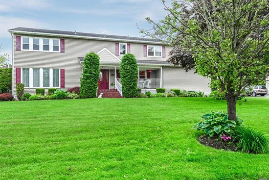 This Expansive Custom Colonial Sits on 140' of Waterfront in Much Sought After Old Harbor Green. Features Include A Gourmet EIK & Banquet Sized DR, FLR, Large Den W/ Fireplace and Sliders to Deck, Library & 5 Large BR., 3 Full New Baths , Powder Room, Master Has Marble Ensuite & Deck Overlooking Water. Enormous Basement W/ Sep Laundry Rm. & OSE.. Relax In Your Heated In Ground Pool In This Resort Setting Backyard. Just Moments To The Open Bay. Also Has IGS, CAC, & 2 Car Garage.
