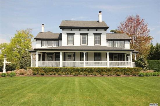 Classic Center Hall Colonial On The Grand Concourse Is The One You Have Been Waiting For! Relax on Your Front Porch and Enjoy The Amazing South Shore Sunsets! 5 Fireplaces, 6 Bedrooms, Master Bedroom En-Suite With Fireplace and Sitting Room. Grand Entryway Exudes Charm and Character. Meticulously Landscaped Half Acre With Brick Patio/ Outside Fireplace and 2 Car Detached Garage. A Truly Unique Gem!