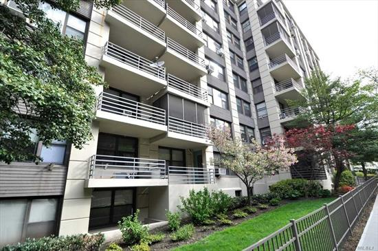 This Quiet, Courtyard Facing, One Bedroom Apartment Features A Large Entry Foyer, Sunken Living Room Hardwood Floors And Great Closet Space. The Unit Also Features A Separate Windowed Kitchen , The King-Sized Bedroom With Double Exposure, Over-Sized Windows And Two Closets. Excellent Location, Steps to Subway (M, R), Buses, Restaurants and Shopping Mall.
