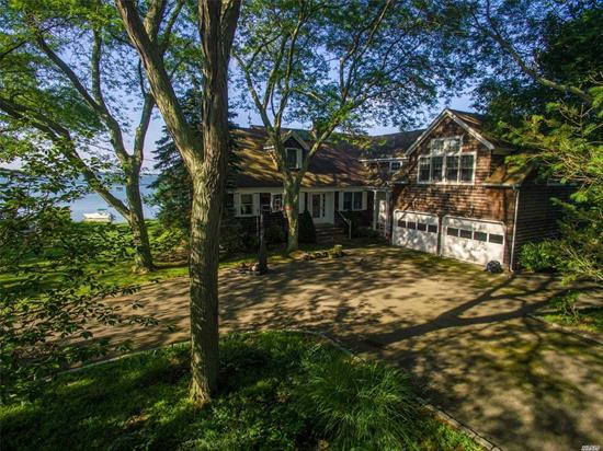 North Fork Coastal Living! Stunning Six Bedroom Bayfront Home With Panoramic Views Of Peconic Bay, Shelter Island And Beyond! The Most Desired Beach And Sailing Location In All Of Southold. Includes An Expansive Deck For Entertaining And Dock Your Own Boat. A Spectacular Seaside Retreat!