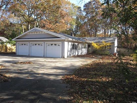 Must See. Seller is grieving taxes. Updated Kitchen, Windows, Roof, Chimney for Fireplace & More. Large Master Bedroom. Greenhouse in backyard. House much bigger than it looks. Don't forget 3 Car Garage. State of the art alarm. Sold as is, estate sale.
