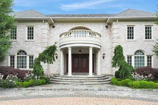 Old Brookville. Custom Designed 10, 000 Sf Brick Colonial on 2.53 Flat Acrs, Gated Property on Quiet Cul-De-Sac. Home Boasts Luxurious Entryway w/ Soaring Ceiling. 8 Spacious Bedrooms, 8.5 Full Baths, Gourmet Eat-In-Kitchen w/ Breakfast Nook, Custom Crown Molding Throughout.Premium 2, 500 Bottle Wine Cellar & State-of-the-Art 16 Seat Theater/Media Room. Backyard Paradise w/ Granite In-Ground Pool & Tennis court. Perfect Home for Large Family & Hosting Fabulous Parties. Photos Speak for Itself!