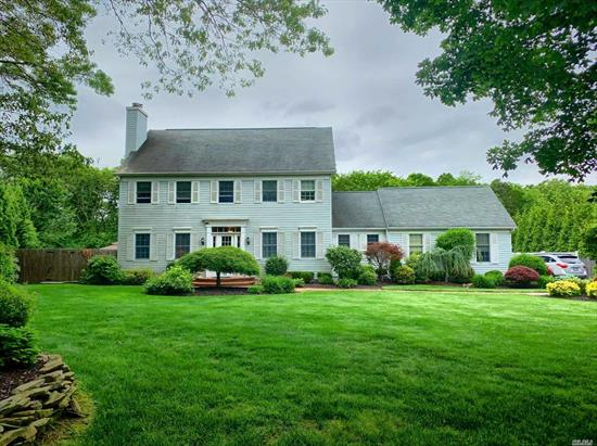 SWR schools. Large, stately Colonial in a cul-de-sac with magnificent landscaping, Builders own home, built with 2 x 6 construction,  In-ground pool, CAC, wood floors, Custom moldings throughout, wood burning fireplace, 4 bedrooms, 2.5 baths on a manicured shy acre. Just lovely.