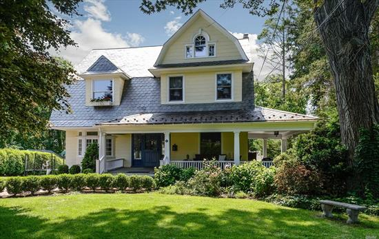 Beautifully renovated Victorian with wrap around porch. Grand Foyer. Large rooms. House has a formal historic charm with updated modern feel. Eat-In Kitchen. Back Porch leading to New Heated Salt Water Pool.