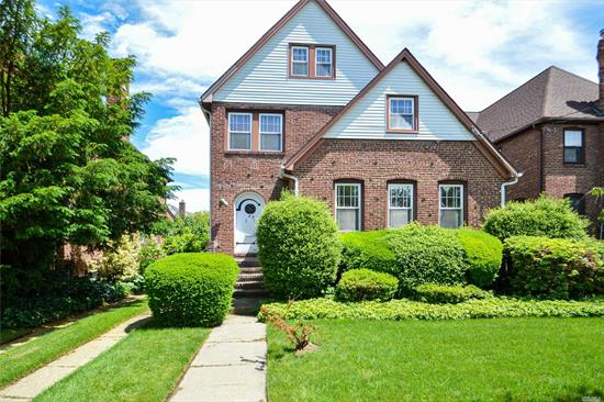 Spacious Brick Tudor With Expanded Sun Parlor Located in the Yorkshire Section, Beautiful hardwood floors, High Ceilings,  Formal Dining room, Eat in Kitchen,  Finished Attic, Possible Forth Bedroom/Office or Playroom, Full Basement, One Car Detached Garage, Three-Four Year old Roof, Mostly Updated Replacement Windows, Gas Cooking, Too much to list Must See!!!