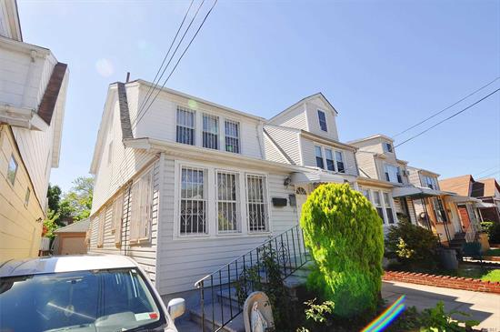 Just Arrived! Sold As Is. Two Family Fully Detached House In An Excellent Location. Enjoy All The Amenities It Offers Nearby. Close To The L.I.E., Q17 & Q18 Bus Stops, Queens College, Public Schools, Hospital, Eateries, Places Of Worship, Etc. Private Driveway Parking & 2 Car Garage, Spacious Backyard, Zoned R4.