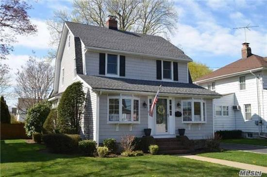 Home Sweet Home in This Mint Colonial 3 Bdr, 1.5 Bath, Gleaming H w Floors, LR w/Fpl, FDR, Den, Granite/SS EIK, Walk-Up Attic, Full Basement, , Beautiful Park-Like Backyard, Rear Deck and Patio, Det .Gar, 50x150 Property, WOW! Near LIRR