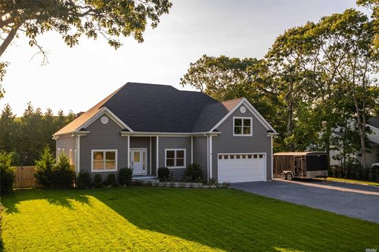 New Construction. Featuring 4 bedrooms 3.5 baths large living space. This Energy efficient Smart Home was built for both primary and summer getaways. Designed with the state of the art amenities over sized rooms with a easy flow throughout. First Floor Master with sliders to the pool area. 3 Lg Bdrs on the upper level with room to expand. 2 car heated garage, backyard with in-ground pool and large deck for all your entertaining needs, fully landscaped w/ Security and Surveillance.