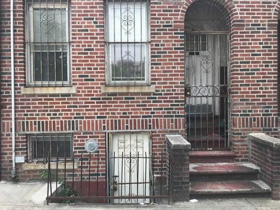 Brick 2-Family in very nice area of Brooklyn. Attached Garage in back of building. Building needs interior work.