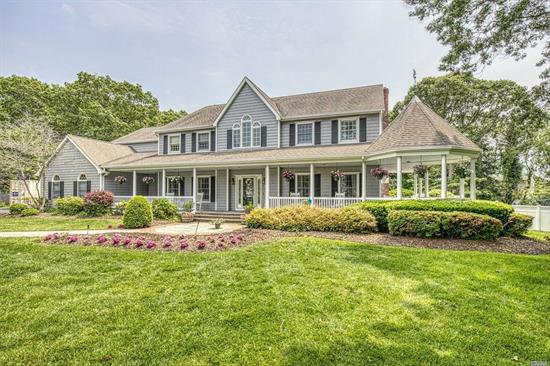 Exquisitely remodeled Victorian set on impressive grounds. A grand staircase & an open floor plan welcome you to this coastal modern one-of-a-kind property at the end of one of Sayville's most beautiful courts. Spectacular kitchen with professional gas oven boasts views of a dream yard, complete with a heated in-ground pool and over-sized deck. The beautiful master suite, three additional bedrooms, laundry quarters, & theatre/media room on the second story will be sure to impress.