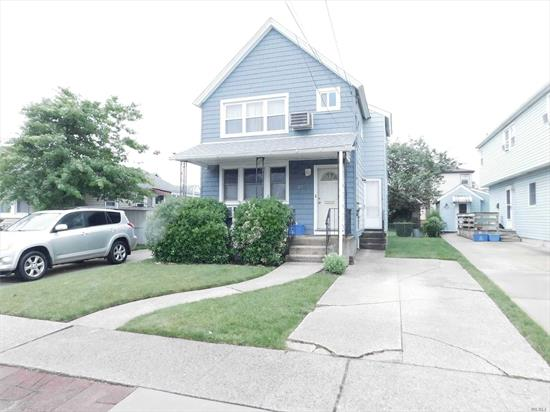 Affordable Legal-2 Family with los of potential. Updated boiler/hw heater. New roof '1 layer', separate electric & gas meters. 2 driveways. Only $892 Flood Insurance 'Assumable'