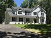 3200 Sq Ft Custom Colonial on a Tranquil 1.2 Acre Lot In Old Field South-Custom Kitchen/Granite Countertops/Stainless Steel Appliances-Oak Floors Thru-out, 2 Zone Central Air Conditioning, Fireplace, Molding Package 1st Floor, Hi Hats, Architectural Roof, Vinyl Siding, 200 Amp Elect Ser, Near West Meadow Beach & 2 Acre Zoning, Still Time To Customize.