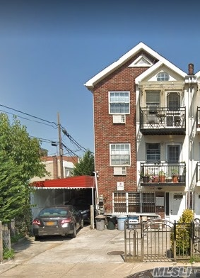 IN MINT CONDITION, BEING USED AS 3 FAM (COMMERCIAL SPACE) CORNER PROPERTY, 10 BEDRMS W/ 2 BATHRMS EACH, BALCONIES & TERRACES, GARAGE + 3 CARS PARKING, SEPARATE BOILERS & HOT WATER HEATERS. ALL WOODFLOORS, MANY CLOSETS & WINDOWS -