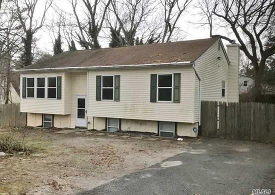 This One Won't Last!!! This 3 Bedroom 2 Bath Home Is Situated On A Large Piece Of Property On A Nice Street In Medford. Master Bedroom Has It's Own Full Bath. House Needs Some Tlc But Has Lots Of Potential!!