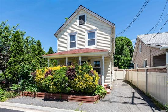 Charming Colonial Situated On Very Private Property. Several Updates, Rocking Chair Porch, Oversized Storage Shed. Formal LR/DR, Updated Kitchen And Baths. Second Floor 2 Bedrooms, Large Master, New Full Bath With Jacuzzi. Hardwood Floors Throughout.Basement Part Finished. Locust Valley Schools.