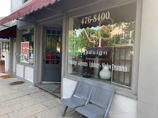 Beautiful Storefront in the Heart of Port Jefferson Village. Property has 9 Ft Ceilings offers a deck with Harbor Views,  Perfect Retail Location w many restaurants, other shops and the Marina only a few feet current tenant vacating at the end of July- This location is one of the best situated retail storefronts in the Heart of Port Jefferson Village. Offering the Ferry a minute away for Day trippers to come visit and enjoy the scenery a