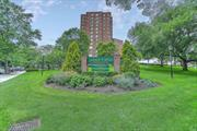 Live the Good Life~21 hour doorman, on site gym/summer pool and parking make this renovated 1 bedroom a must see! Super low maintenance includes all utilities. Enjoy your large terrace on the 15th floor which affords panoramic views. Walk and enjoy the serenity and beauty of Oakland Lake. E-Z access to major highways and minutes to the LIRR. A must see!