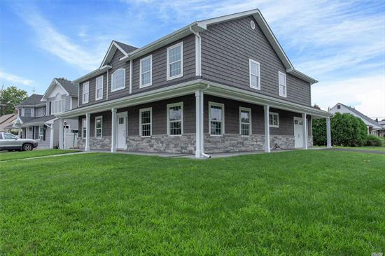 Brand new 2019 construction!  Open layout that's great for entertaining; approximately 3000 square feet.  All new eat in kitchen with island, large formal dining room, living room, 5 bedrooms total and 3 bathrooms total.  Master bedroom suite with large walk in closet on 2nd floor, large closets in bedrooms for lots of storage and full attic space. All new windows, central air, 200 amp electric, boiler relocated to the garage, above ground oil tank, tons of sunlight!!  Over sized lot, private driveway...this is the one! Don't miss out!  Lot Size: 80 x 100 / Taxes: $12,537 / Fuel: Oil / Heat: Hot Water.