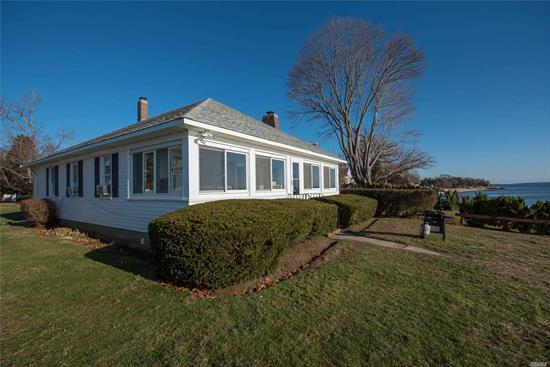 Drastic price reduction for motivated owner. Excellent Year Round Bay Front Property. Three bedroom, one bath,  EIK, large enclosed porch, LR with fireplace. Superb Views, Brand New Double Bulkhead. Ideal To Link With MLS# 3138822. Properties Available Jointly Or Individually. Owner would consider financing.
