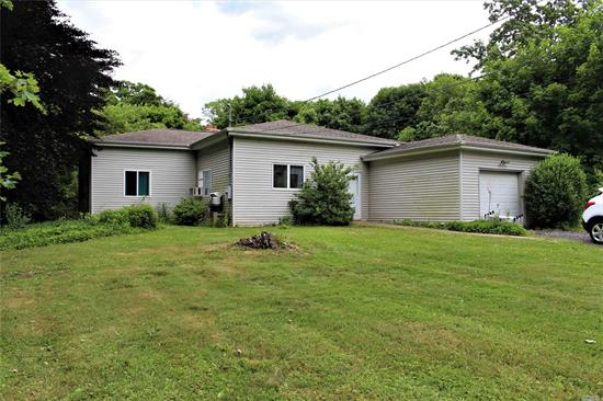 Calling All Investors or 203K Loans. Home Being Sold AS IS.  Ranch With EIK, Living Room W/Fireplace, 4 Bedrooms, 2 Full Baths, Basement & Garage In Need Of TLC.  Great Piece Of Property of 1.34 Acres on Beautiful Street.  Tenant Occupied.  Please Do Not Disturb. Taxes $10, 074.05.