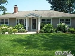 Located in Shinnecock Shores.Enjoy hampton living in this waterfront 4 bedroom 3 bath home. it also features a beautiful sun room, large kitchen and living room with fireplace.