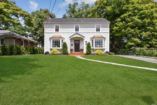Picture Perfect Beautifully Renovated 3 Br Colonial On Lovely Property. Large Living Room w/ Fpl, New Kitchen, Updated Baths, Lower Level Playroom