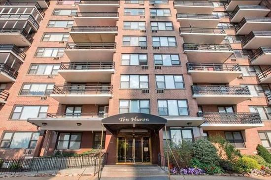 This spacious one bedroom condo stuns with its direct NYC river views! Enjoy 794 square feet of living space and an easy 5 minute walk to the PATH trains. Perfect for owner occupants or investors alike. This community does not disappoint with a wealth of amenities at your doorstep; including gym, pool, laundry room, and parking. Call or text today to schedule your tour. Photos of a similar unit with identical layout.