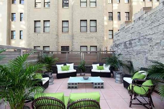 Welcome to the Beacon where historic art deco meets modern luxury. Your relaxation starts with a private 900 SqFt. terrace! Custom kitchen designed with stone counters, SS appliances, and custom cabinets. 10' ceilings help make your new home your palace. Also includes private gated storage on main floor. Community features 24 hour concierge, shuttle to path, valet parking, gym, community room and shuttle to the path. Home also comes with storage room in building. parking available to rent within the community.