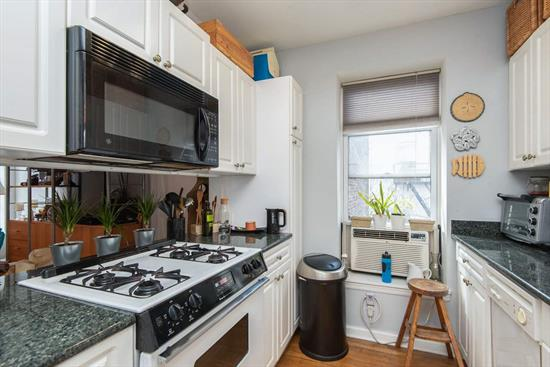 Welcome home to this inviting 2 bedroom 1 bath condo with a generous size terrace and common landscaped outdoor space in Downtown Jersey City. Unit features hardwood floors, central AC & heat, laundry in the unit...