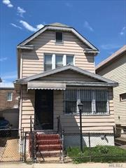 Legal 1 family, fully detached. 3 Bedrooms, 2.5 Bathrooms duplex in the heart of Woodside. Parquet floors in beautiful condition. Fully remodeled Kitchen and Bathroom. Detached garage. House to be sold in AS IS condition. All appliances are included. Walking distance to train, LIRR and Shopping area.