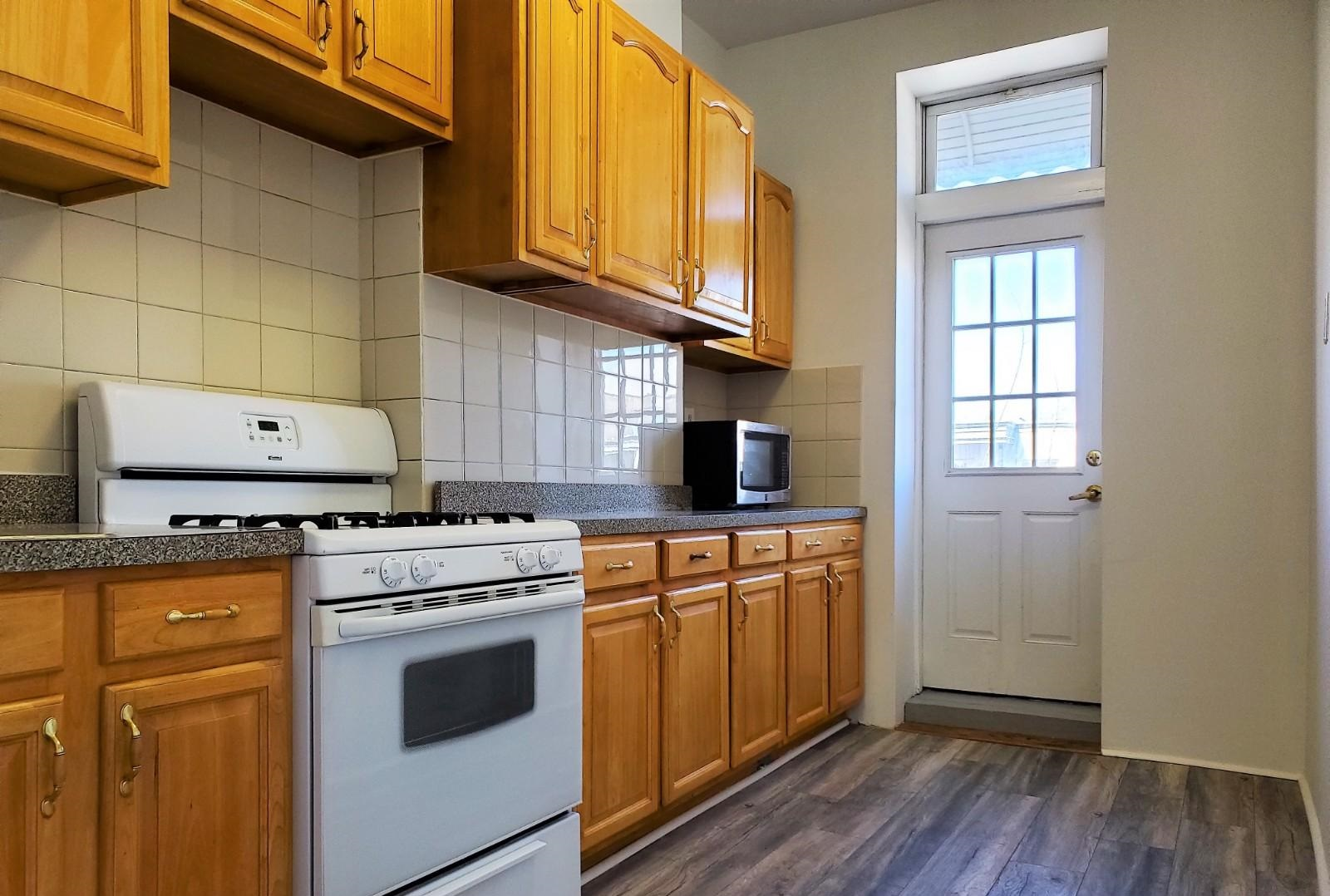 Freshly Painted 3 Bedroom Apartment for Rent in Ridgewood. Features Sunny Living Room, Kitchen with Balcony Entrance, 1 Newly Renovated Bathroom, and 1 Home Office. Hardwood Flooring Throughout. Heat and Water is Included. Conveniently Located Near M, L Train, Q58,Q55 Bus, and Shops.
