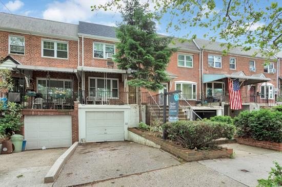 Attached Brick Colonial located in the Oakland Gardens area of Bayside. This property features a cozy front porch, spacious rooms throughout, 3 bedrooms & 1.5 baths, enclosed room leading to private yard & in As Is Condition, Needs Updating. Large garage & private driveway. Convenient to All!