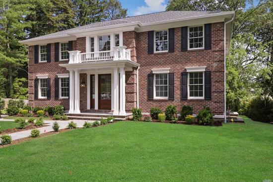All Brick South Facing New Construction! 6 Bedroom 6.5 Bath Center Hall Colonial Featuring A Gracious Entrance Foyer, Formal Entertaining Rooms, Chef's Kitchen With Large Center Island & Doors Opening To Large Deck Overlooking Magnificent Backyard with Room for Pool . Detailed Mill Work Throughout. 6000 sqft of excellent Living Space Including Walk Out Basement . Sprinklers, Radiant Heath. Roslyn Schools, Sticker Port Washington Train Station