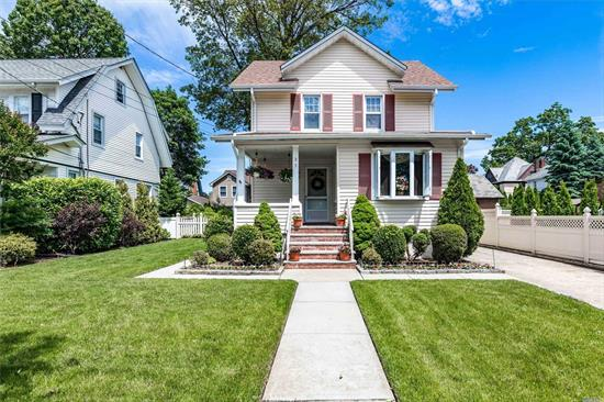 Absolutely Charming Colonial in desirable Lynbrook Schools- Low taxes- 3 yr old roof-immaculately kept. Full finished basement with separate office(possible bedroom)-Walk up attic- walk to LIRR/Bus/Town. A must see!
