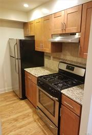 Beautiful, bright 1 bed/1 bath condo located on the 2nd floor of this award-winning condominium building in Kew Gardens. The apartment features stainless steel appliances, hardwood floors throughout, full sized washer/dryer and dishwasher. Parking spot is available for an extra $225 a month. It is located near L, M, Z Trains, short bus ride to LIRR. Pet-friendly. Dogs ok under 30 lbs.
