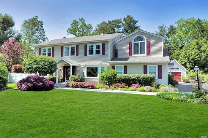 NEW PRICE! Expanded Colonial in quiet Cul-de-Sac minutes from Village.Dream Large Gourmet Custom Kitchen with Wood Fired Pizza Oven, Double Ovens, 2 Dishwashers, 6 Gas Burners & 3 Pantries.Gleaming Hardwood Floors &High Hats w/ Picture Sized Windows make it Bright & Warm throughout.Blissful Backyard with Paver Patio surrounding an Inground Salt Water Pool, New Pump, Filter & Removable Pool Fence.Professionally Landscaped Yard w/ Custom Garden Shed & Newly Sealed Driveway.Guest Wing w/ Full Bath.