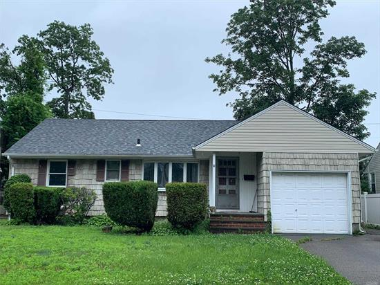 Here's Your chance to Do it Your Way! 3 BR, 2 Bath Mid-Block Ranch with Garage and Full Basement. Tons of Potential - Newer Roof, two Driveways, In-ground-pool.