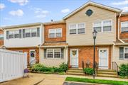 Largest Condo in the area w/ 2 car parking & pool. Commuters delight. Catch the express to Penn in 30 minutes. Steps to LIRR, Bus, Parks, Shopping, Restaurants, etc. All rooms are Large. Closets Galore. Very well maintained unit. LOW taxes & Common Charges. Attic storage & huge Full Basement with 9ft ceilings. WOW! Don't wait. Only unit available in this desirable complex!!!